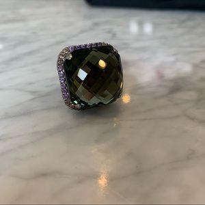Sorrelli gunmetal cocktail ring
